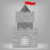 Vector clipart: Grey Castle