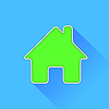 Vector clipart: Green Home Icon