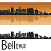 Vector clipart: Bellevue skyline