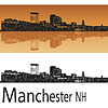 Vector clipart: Manchester, NH skyline