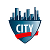 Vector clipart: Abstract logo city protected