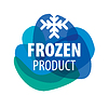 Vector clipart: Blue logo for frozen foods with snowflake