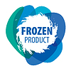 Vector clipart: Blue logo for frozen products