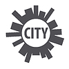 Vector clipart: Round logo city of planet