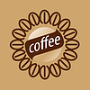 Vector clipart: Round logo coffee beans