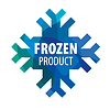 Vector clipart: Snowflake logo for frozen products