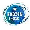 Vector clipart: round blue logo for frozen products