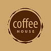 Vector clipart: round logo imprint of coffee