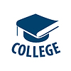 Vector clipart: logo book in form of cap for college