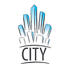Vector clipart: logo city in form of crystals
