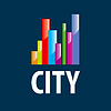 Vector clipart: logo city in form of diagram