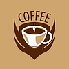 Vector clipart: logo coffee cup and shield