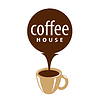 Vector clipart: logo cup and coffee stream