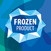 Vector clipart: logo for frozen foods in form of crystals