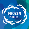Vector clipart: logo for frozen products in form of cloud