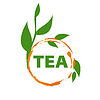 Vector clipart: logo imprint tea and green leaves