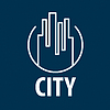 Vector clipart: logo outline night city