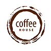 Vector clipart: logo round imprint of coffee