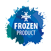 Vector clipart: logo with snowflake for frozen products