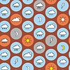 Vector clipart: Seamless Pattern Of weather icons