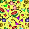 Vector clipart: Funny seamless pattern with summer elements