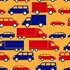 Vector clipart: seamless pattern with colorful little cars
