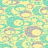 Cute pastel pattern. Seamless texture with rings