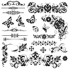 Vector clipart: Set of vector graphic elements for design