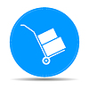 Vector clipart: wheelbarrow for transportation of cargo, web icon