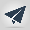 Vector clipart: Paper airplane icon