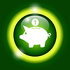 Vector clipart: piggy bank icon