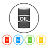 Vector clipart: icon barrels of oil