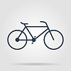 Vector clipart: Minimalistic bicycle icon. , EPS 10