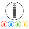Vector clipart: Punching Bag icon. Boxing symbol