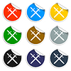 Vector clipart: sword icon beautiful