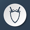 Vector clipart: Sword and shield icon
