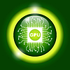 Vector clipart: Circuit board icon. Technology scheme square symbol