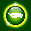 Vector clipart: protecting hands icon
